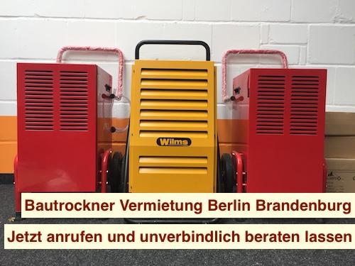 Bautrockner Vermietung Berlin Brandenburg