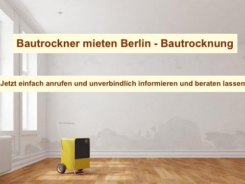 Bautrocknung Wasserschaden Berlin & Brandenburg